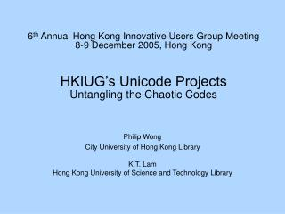 Philip Wong City University of Hong Kong Library