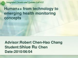 Human++ from technology to emerging health monitoring concepts