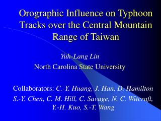 Orographic Influence on Typhoon Tracks over the Central Mountain Range of Taiwan