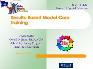 Results-Based Model Core Training