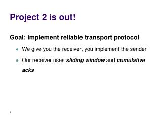 Project 2 is out!