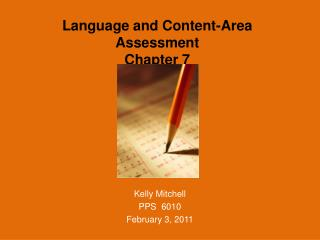 Language  and Content-Area Assessment Chapter 7