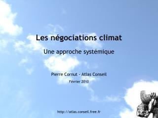 Les négociations climat Une approche systémique