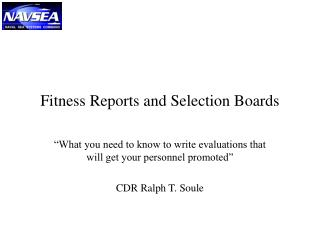 Fitness Reports and Selection Boards