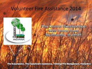 Volunteer Fire Assistance 2014