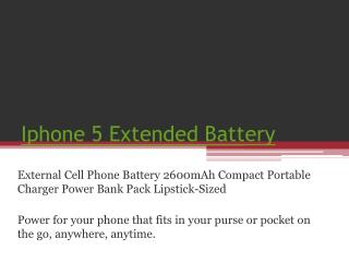 IPhone 5 Extended Battery