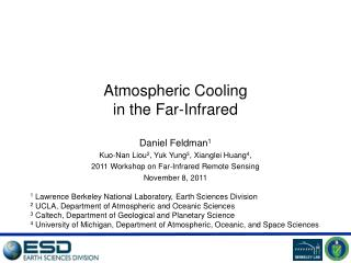 Atmospheric Cooling  in the Far-Infrared