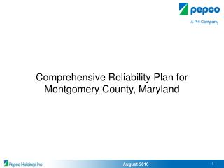 Comprehensive Reliability Plan for Montgomery County, Maryland