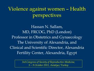Violence against women – Health perspectives