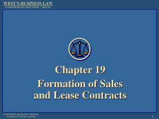Chapter 19 Formation of Sales  and Lease Contracts