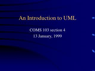 An Introduction to UML