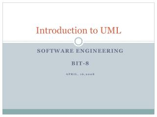 Introduction to UML
