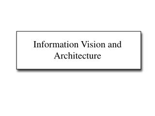 Information Vision and Architecture