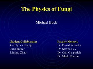 The Physics of Fungi Michael Buck