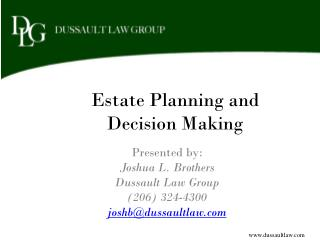 Estate Planning and Decision Making