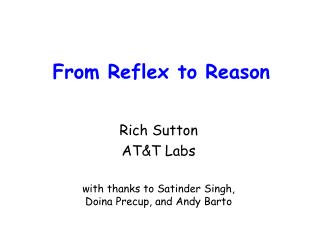 From Reflex to Reason