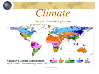 Climate Long term weather patterns