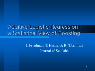 Additive Logistic Regression: a Statistical View of Boosting