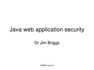 Java web application security