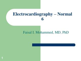 Electrocardiography – Normal 6