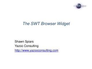 The SWT Browser Widget