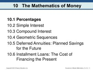 10   The Mathematics of Money