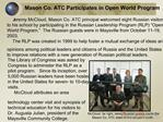 Mason Co. ATC Participates in Open World Program
