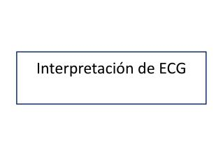 Interpretación de ECG