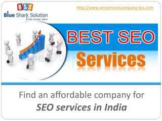 Find an affordable company for SEO services in India:
