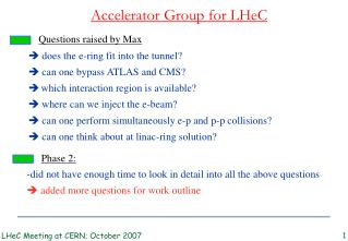 Accelerator Group for LHeC