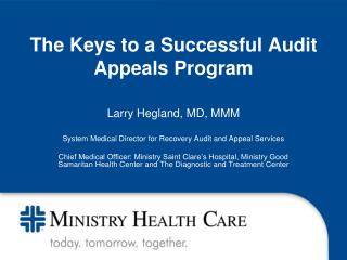 The Keys to a Successful Audit Appeals Program
