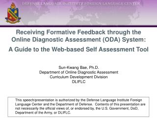 Receiving Formative Feedback through the Online Diagnostic Assessment (ODA) System: