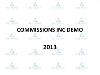 COMMISSIONS INC DEMO
