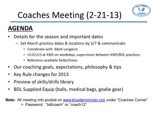 Coaches Meeting (2-21-13)
