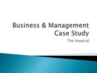 Business & Management Case Study