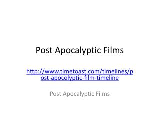 Post Apocalyptic Films