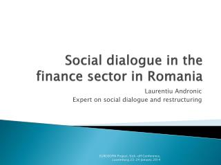 Social dialogue in the finance sector in Romania