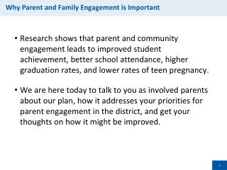 Why Parent and Family Engagement is Important