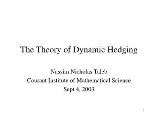 The Theory of Dynamic Hedging