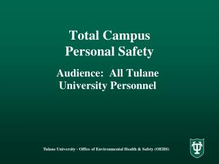 Total Campus Personal Safety