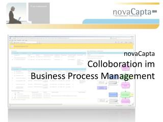 novaCapta Colloboration im  Business Process Management