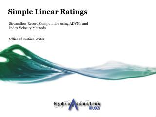 Simple Linear Ratings