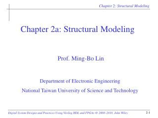 Chapter 2a: Structural Modeling