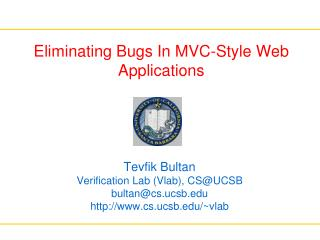 Eliminating Bugs In MVC-Style Web Applications