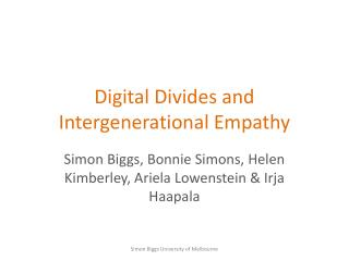Digital Divides and Intergenerational Empathy