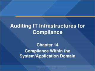 Auditing IT Infrastructures for Compliance Chapter  14