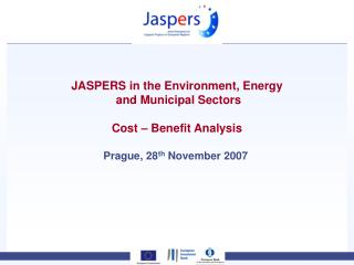 JASPERS in the Environment, Energy  and Municipal Sectors Cost – Benefit Analysis