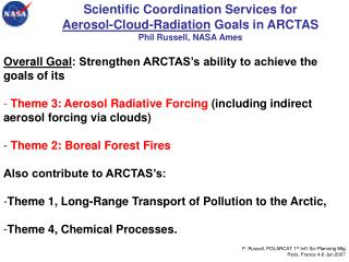 Overall Goal : Strengthen ARCTAS's ability to achieve the goals of its