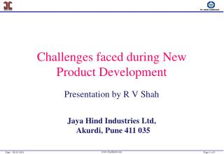 Challenges faced during New Product Development
