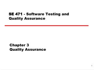 Chapter 3 Quality Assurance